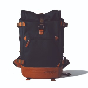 compagnon 카메라 백팩 the backpack 2.0 (Blue/Light Brown)