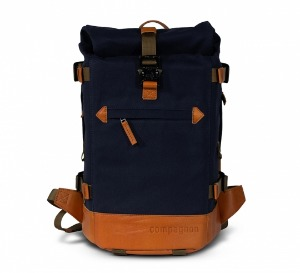compagnon - the little backpack (Blue/Light Brown)